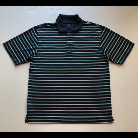PGA Tour Men's Size Large Golf Polo Shirt Blue